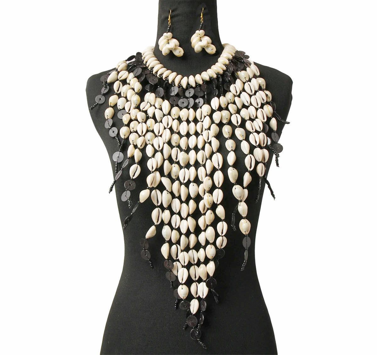 Nevaeh Statement Necklace - Black