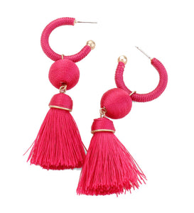 Patricia Tassel Earrings - Fuchsia