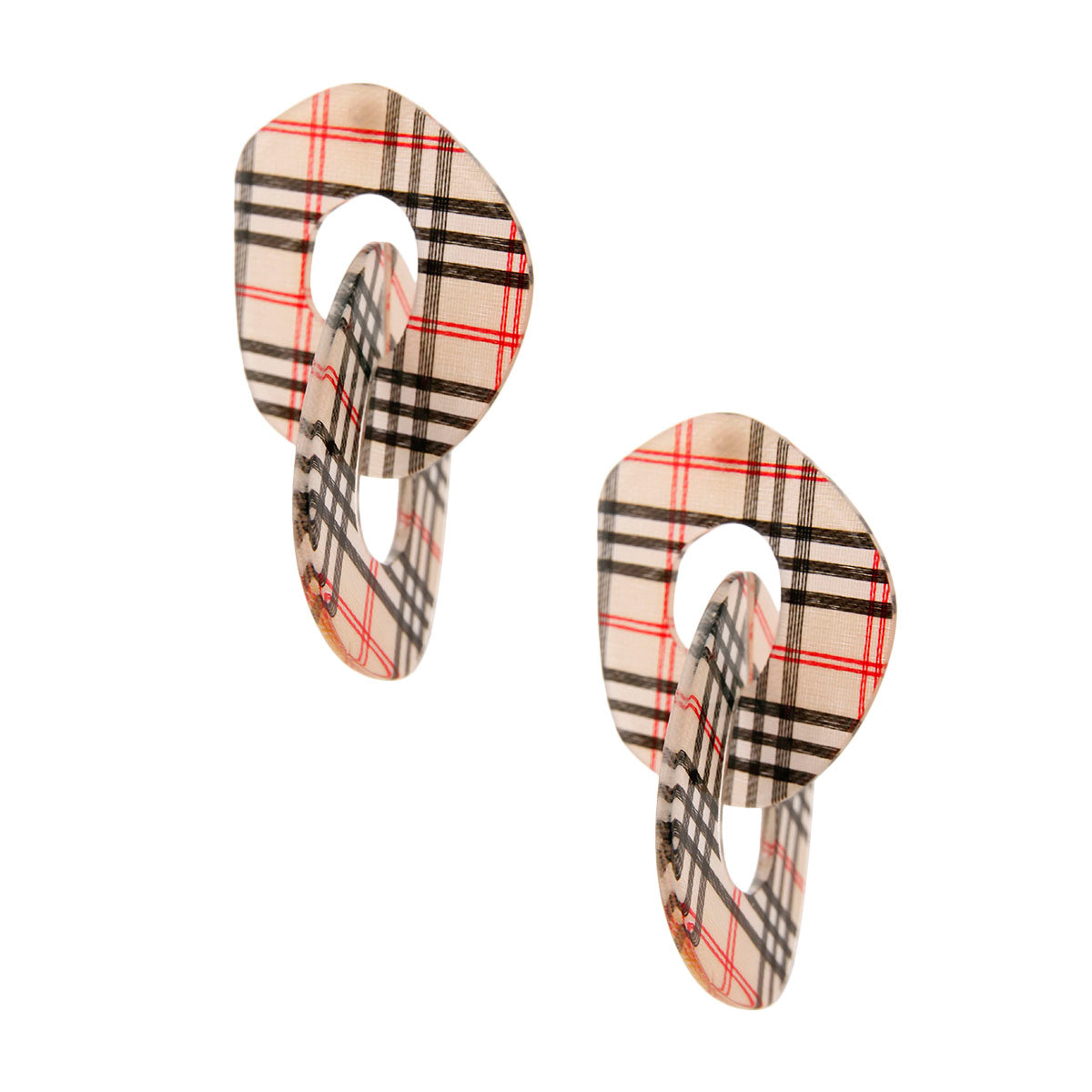 Burberry Dupe Earrings