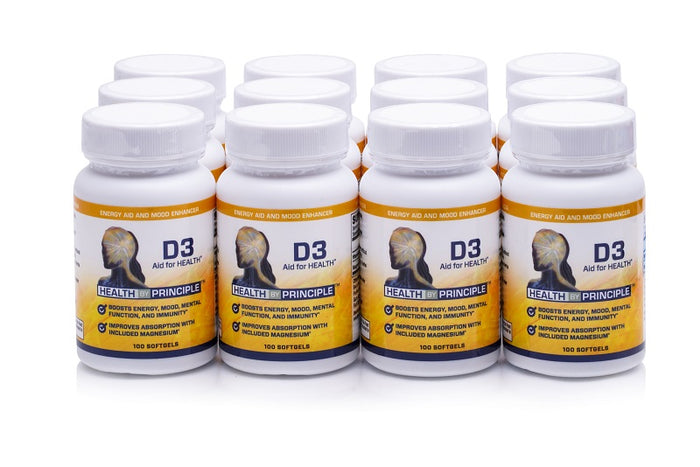 Case of 12 Complete Vitamin D3 Supplements