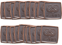 Twenty copper square Conan coins