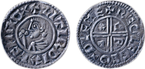 A Viking silver penny of  Sihtric Silkbeard, circa 990-1000 AD