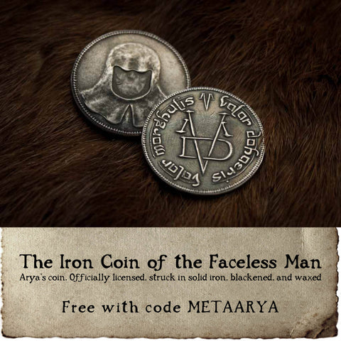 Free Iron Coin of the Faceless Man from Shire Post Mint