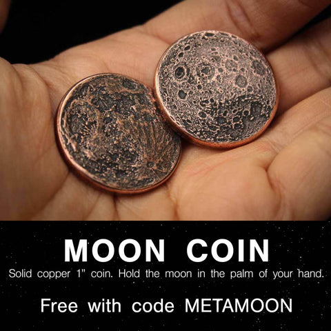 """Moon Coin - Copper 1"""" - Free Gift from Shire Post Mint"""