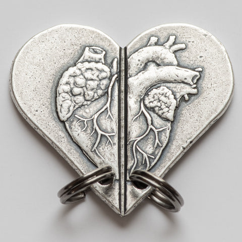 Silver Whole Heart Necklace Set