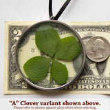 "Lucky 4-Leaf Clover Ornament / Hanger - ""M"""
