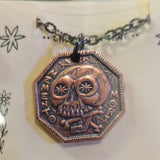 Memento Mori / Memento Vivere Reminder Coin Necklace