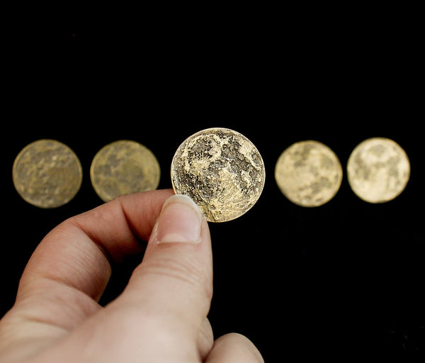 Harvest Moon Bundle - Set of 5 Brass Moon Coins