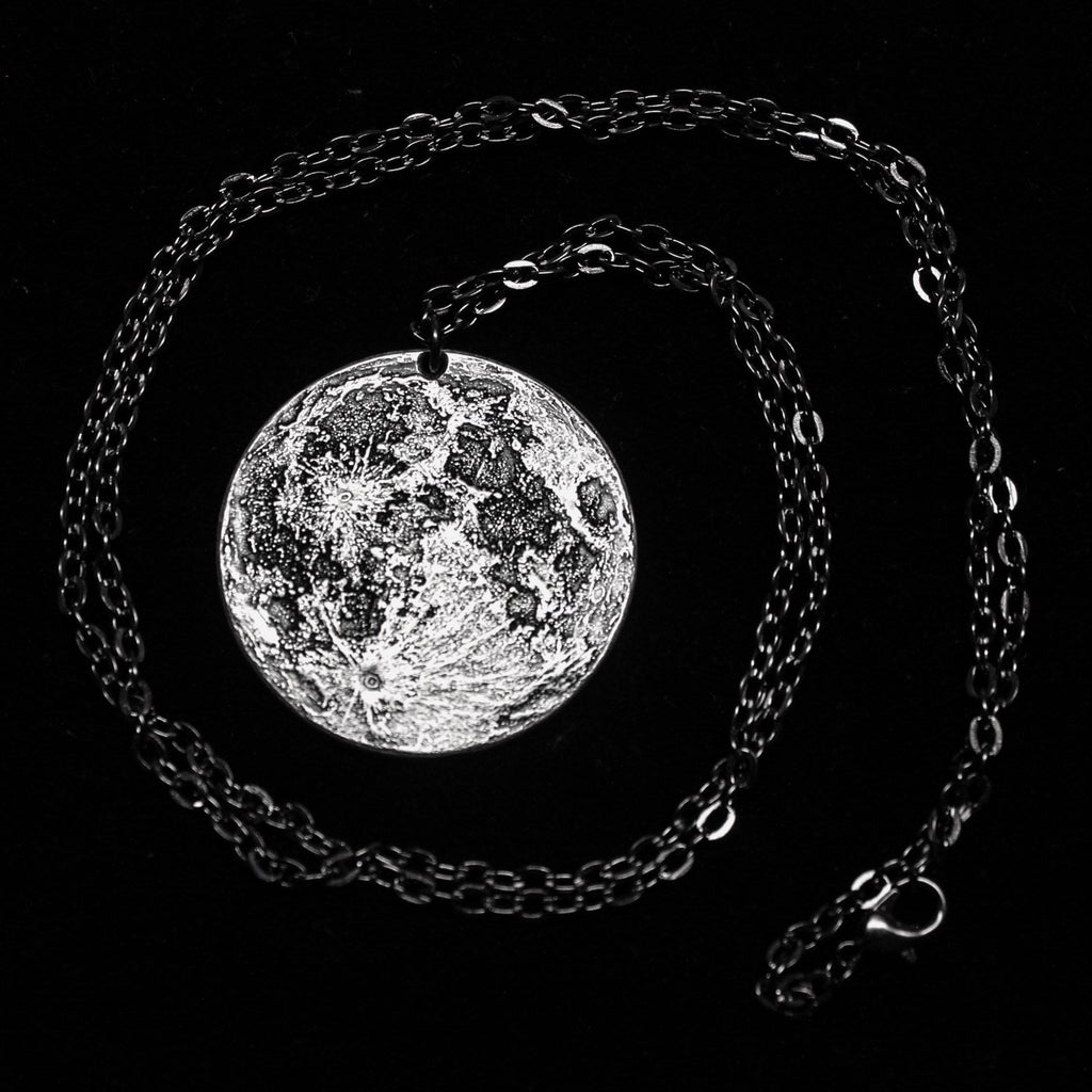 "Full Moon 1 oz Silver Necklace on 30"" chain by Shire Post Mint"