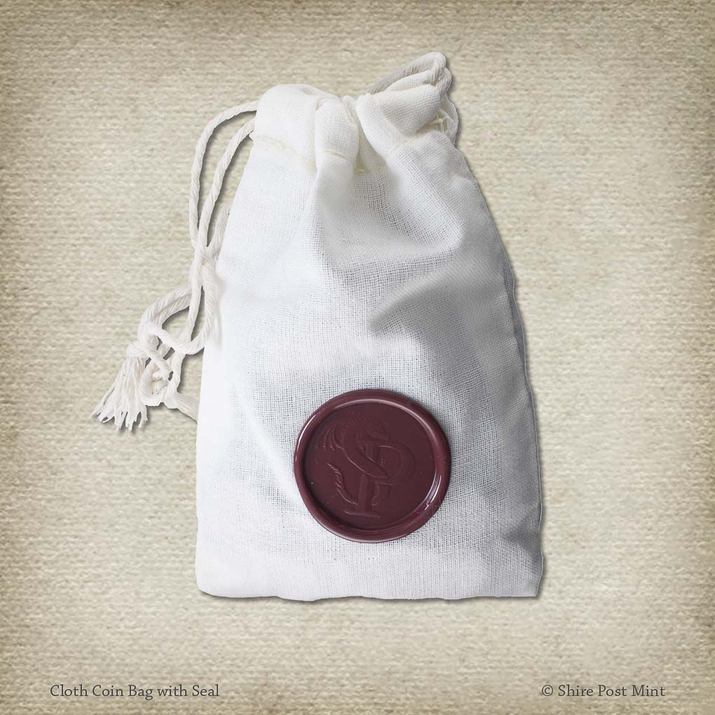 Cloth Coin Bag with Seal