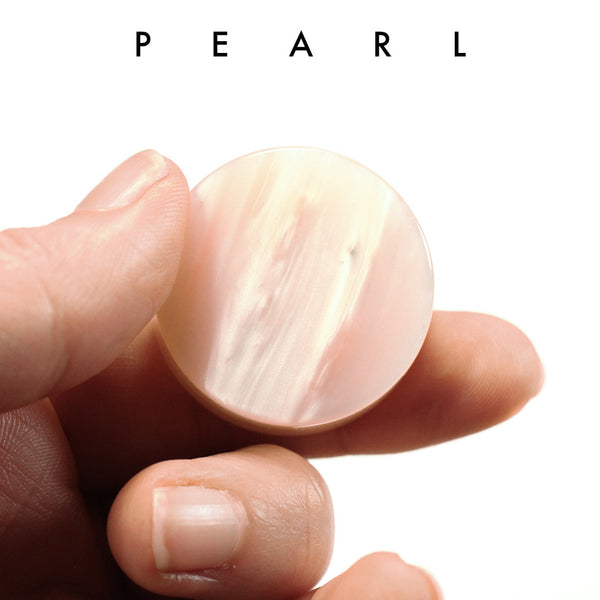 Pearl Cream Upcycled Bowling Ball Worry Stone | Shire Post Mint Gifts