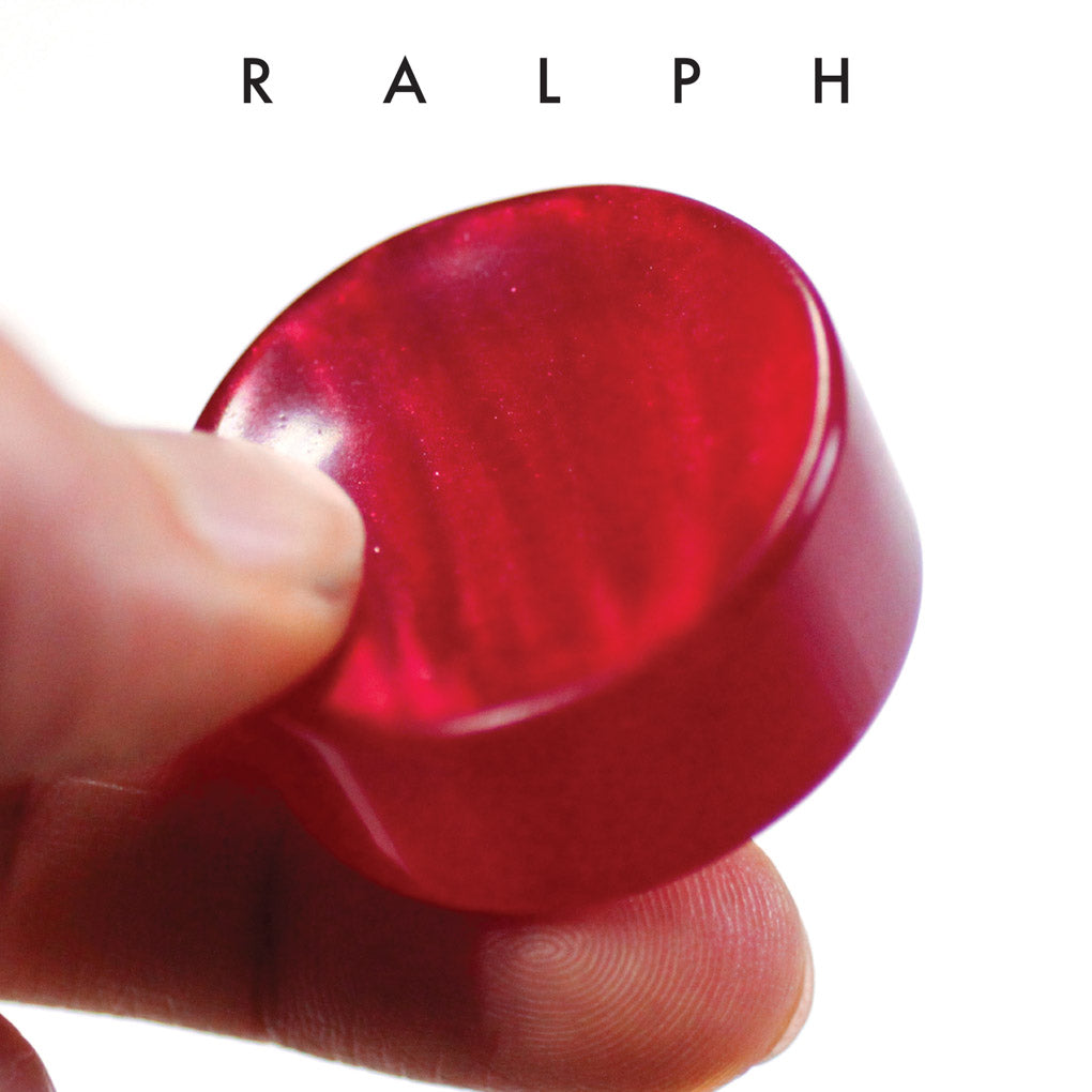 Ralph Red Upcycled Bowling Ball Worry Stone | Shire Post Mint Gifts