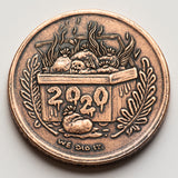 I Survived 2020 Coin - Dumpster Fire Reminder Token - Shire Post Mint Gifts