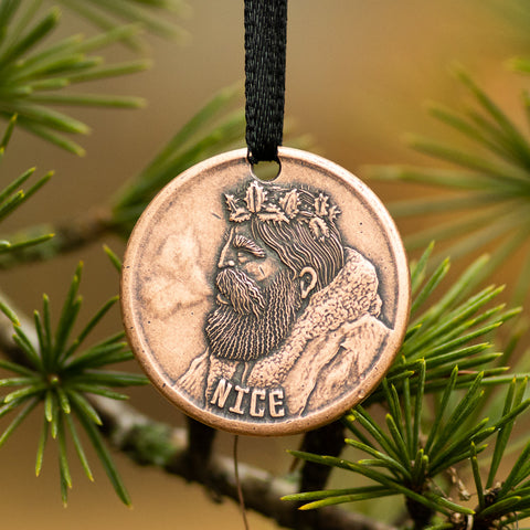 Naughty or Nice Copper Ornament - Shire Post Mint Santa Gifts