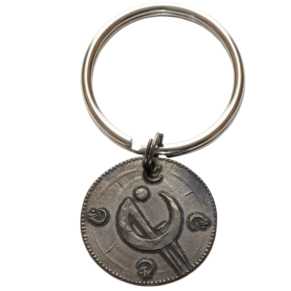 Ash Blackened Copper Clip Keyring of The Final Empire