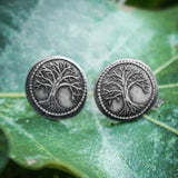THE SHIRE™ Silver Farthing Post Earrings