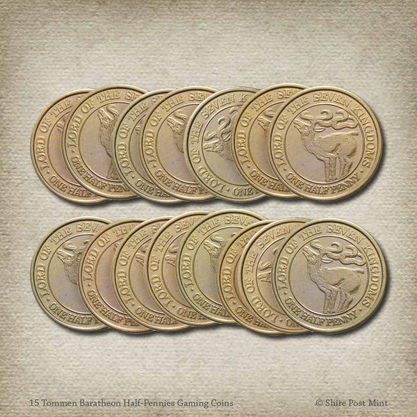 15 Tommen Baratheon Half-Pennies Gaming Coins