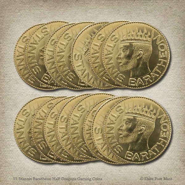 15 Stannis Baratheon Half-Dragons Gaming Coins