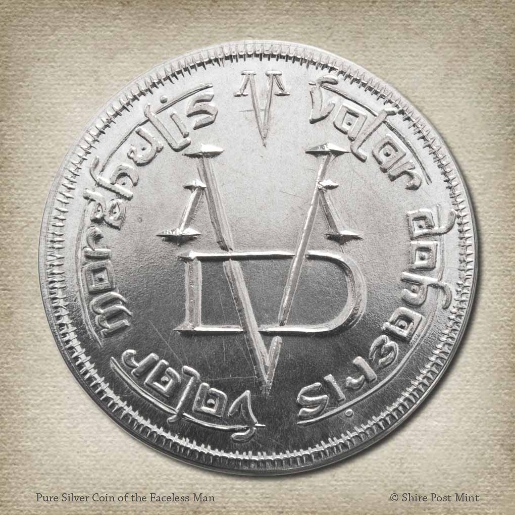 Pure Silver Coin of the Faceless Man - Valar Morghulis Coin by Shire Post Mint