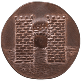 Walder Frey penny reverse depicting the Twins castle and river
