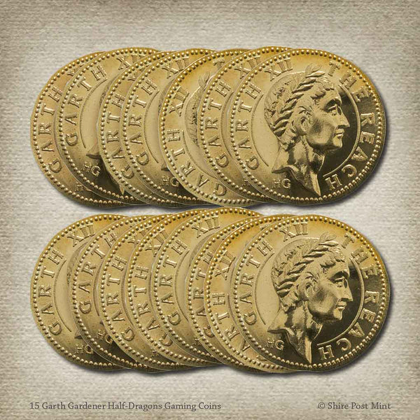 Bulk Garth Gardener Half-Dragons Gaming Coins