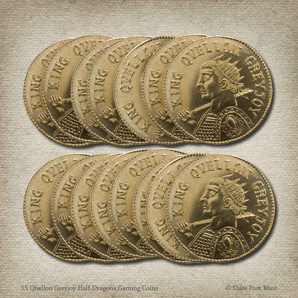 15 Quellon Greyjoy Half-Dragons Gaming Coins