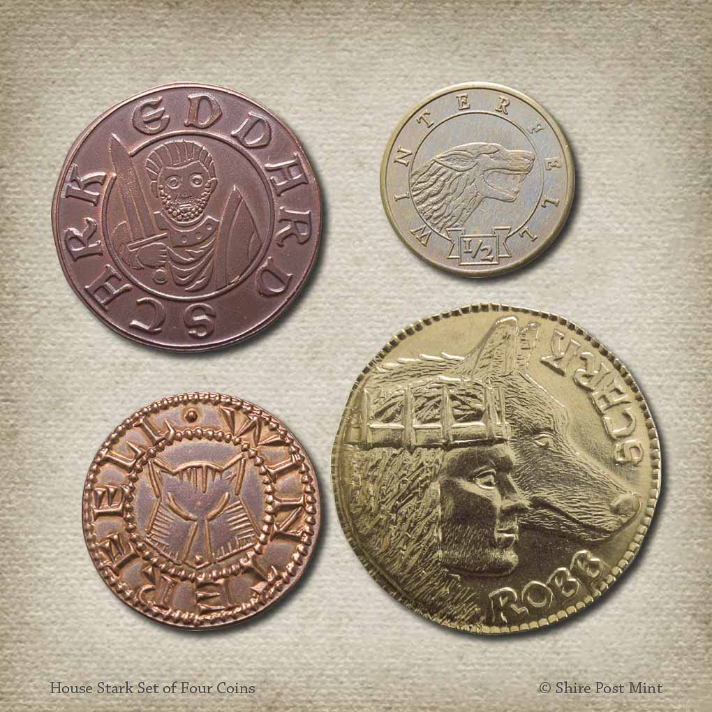 House Stark Set of Four Coins