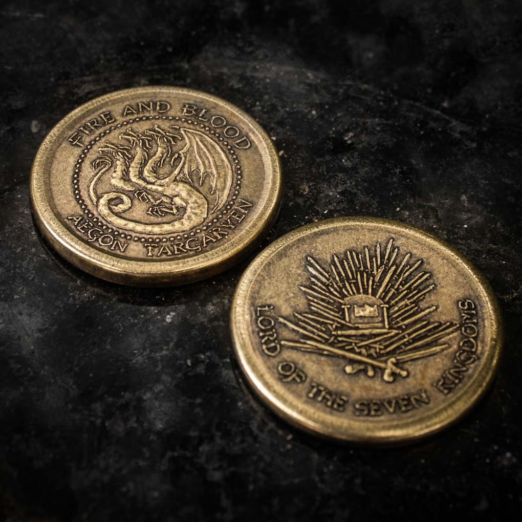 Aegon Targaryen Golden Dragon Coin