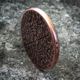 Helm of Awe Copper Coin - Aegishjalmur - Warrior's Stave Viking Coinage