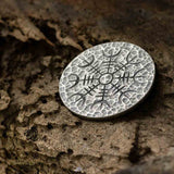 Silver Coin - Helm of Awe - .999 Fine Silver - Aegishjalmur - Warrior's Stave Viking Coinage