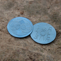 Blue Roswell Coin - Alien Artifact