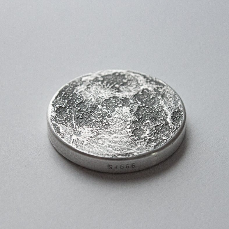 "Ultra Chunky 1"" Full Moon Silver Coin"
