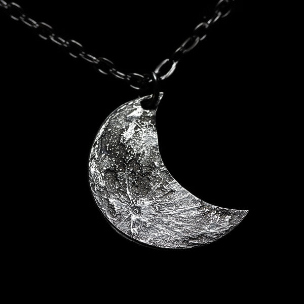 Crescent Silver Moon Necklace