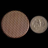 Textured Worry Stone - Raw Copper - Geometric Pattern Copper Coin