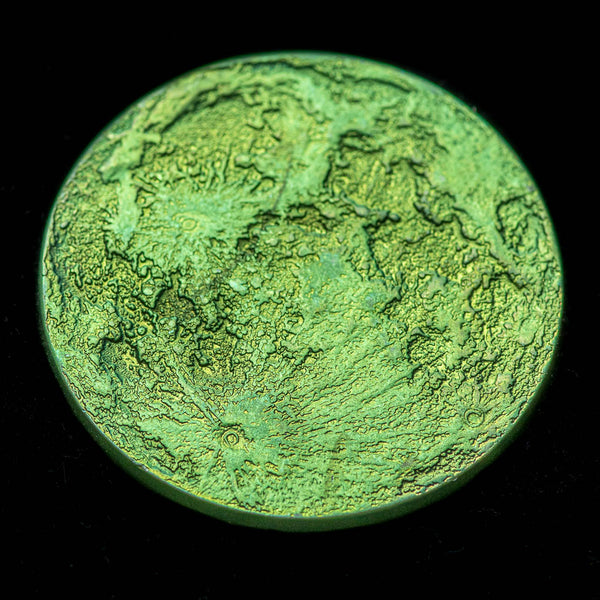 "Green Moon Coin - 1"" Anodized Niobium gift"