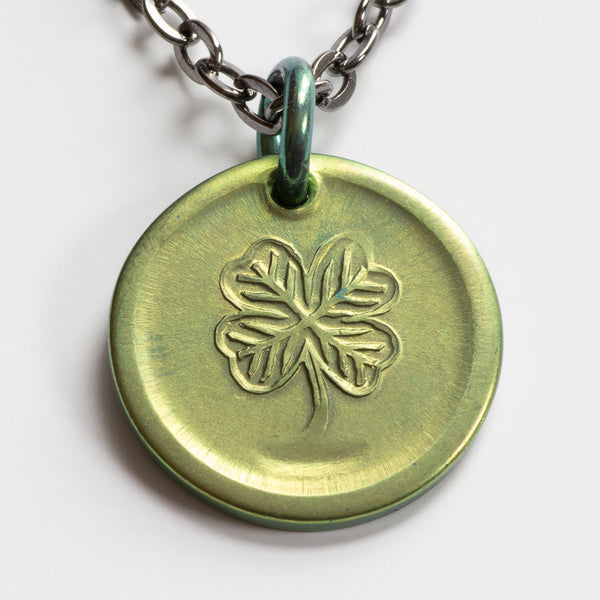 Lucky Green Necklace - Niobium Lucky Pendant - 2021