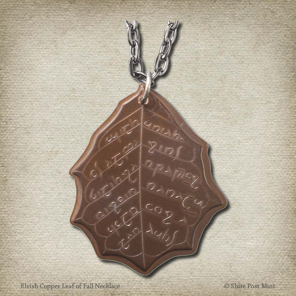 Elvish Copper Leaf of Fall Necklace