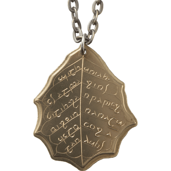 Elvish Brass Leaf of Summer Necklace - The Lord of the Rings, J. R. R. Tolkien
