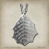 Elvish Silver Leaf of Winter Necklace