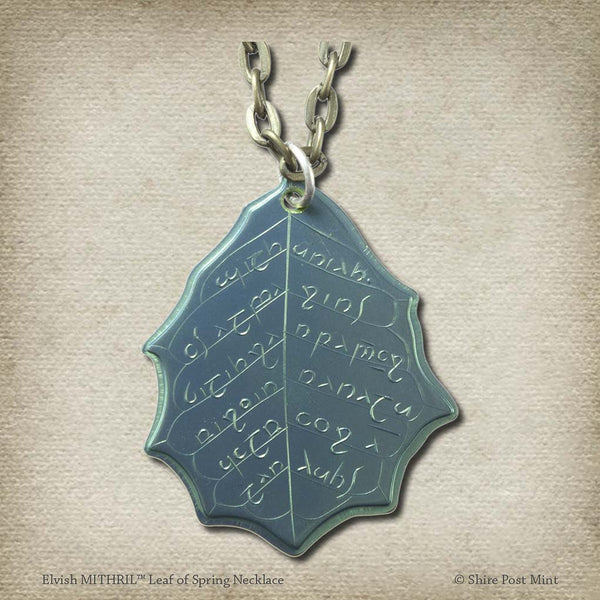 MITHRIL™ Elvish Leaf of Spring Necklace