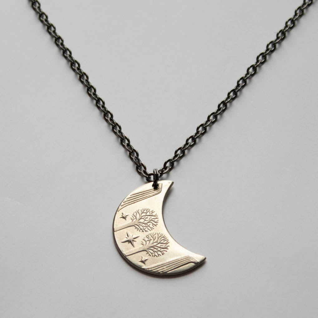 RIVENDELL™ Moon Necklace in Nickel