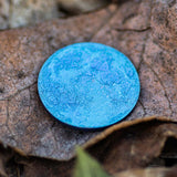 Blue Niobium metal moon by Shire Post Mint
