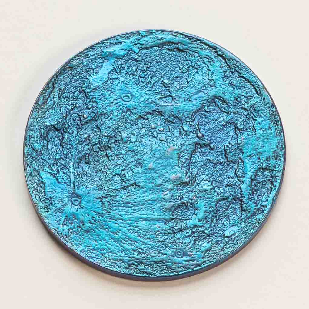 "Blue Moon Coin - 1"" Anodized Niobium"