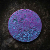 "Blue and Purple Moon Coin - 1"" Anodized Niobium"