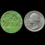 "Green Moon Coin - 1"" Anodized Niobium gift quarter size"