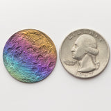 "Rainbow Moon Coin - 1"" Multicolored Anodized Niobium gift lgbtq gay lucie's place"