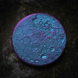 "Blue and Purple Supermoon Coin - Large 1.5"" Anodized Niobium"