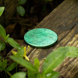 "Green Supermoon Coin - Large 1.5"" Anodized Niobium"