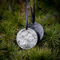 Set of 2 Moon Ornaments - New Moon Bundle with Collectible Moon Tin