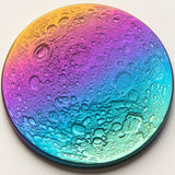 "Rainbow Supermoon Coin - 1.5"" Multicolored Anodized Niobium"
